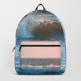 Beach Adventure Summer Waves at Sunset Backpack