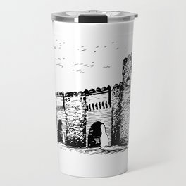 Old Tower Gate Ink Art Travel Mug