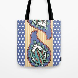 Blue Paisley Tote Bag