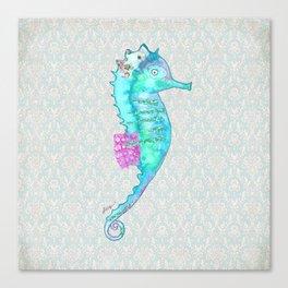 Blue Sea Dragon Revised Canvas Print