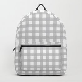 Buffalo Checks Plaid in Dove Gray and White Backpack