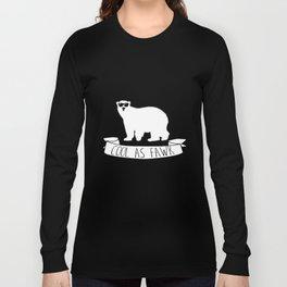 Funny Cool as Fawk Polar Bear Long Sleeve T-shirt
