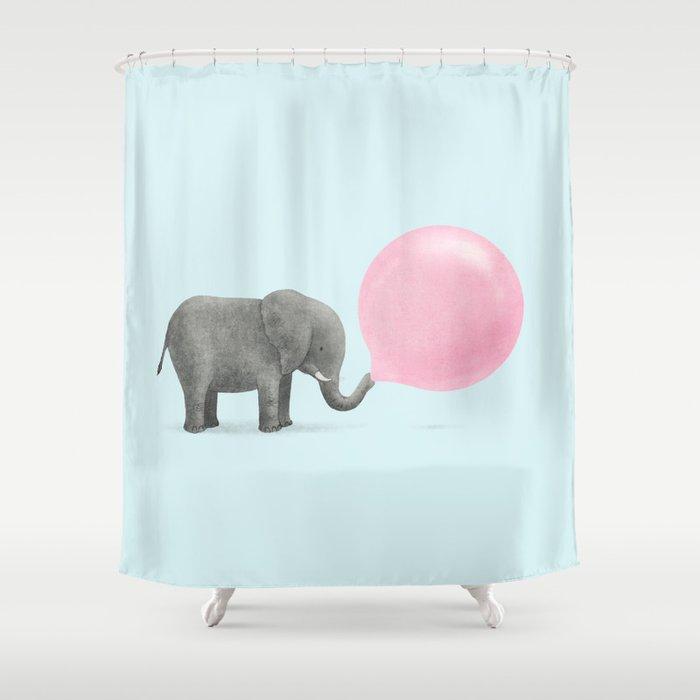 Jumbo Bubble Gum Shower Curtain By Igo2cairo