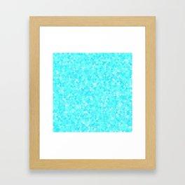 Blue triangle background Framed Art Print