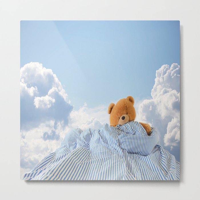 Sweet Dreams - Teddy Bear's Nap Metal Print