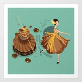 Caramel Salted Butter Choux  Art Print