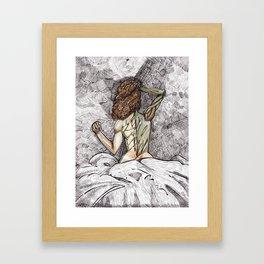 She Is Nature Framed Art Print