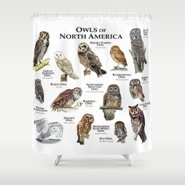 Owls of North America Shower Curtain