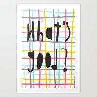 nicki Art Prints featuring Nicki by Melissa Gilmore
