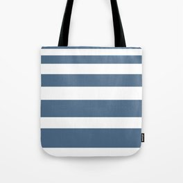 Gradient Stripe in Blue and White Minimalist Pattern Tote Bag