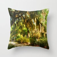 georgia Throw Pillows featuring Georgia by Raymond Earley