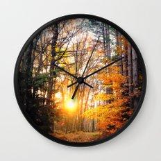The Burning Wall Clock