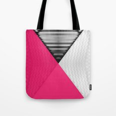 Black White and Bright Pink Tote Bag