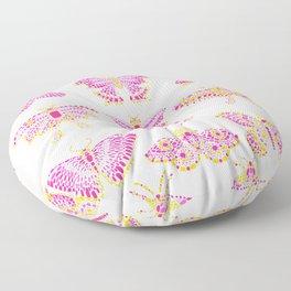 Butterflies Pink Floor Pillow