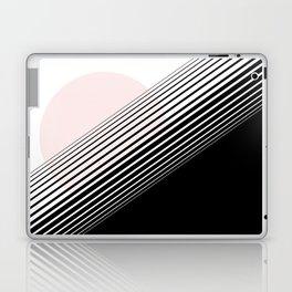 Rising Sun Minimal Japanese Abstract White Black Blush Pink Laptop & iPad Skin