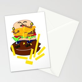 Cheese burger Stationery Cards