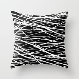 Black and White Stripes Shakers Throw Pillow