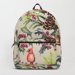 Repeating Pinecone Pattern Backpack
