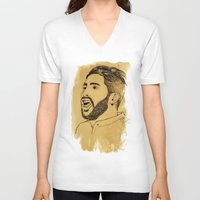 real madrid V-neck T-shirts featuring Sergio Ramos - Real Madrid - Spain - Footballer by Matty723