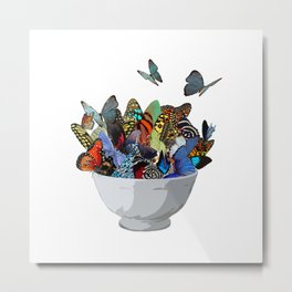 Give you Butterflies in your Stomach Metal Print