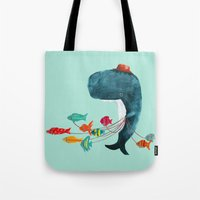 fish Tote Bags featuring My Pet Fish by Picomodi