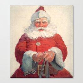 Classic Santa Claus Canvas Print