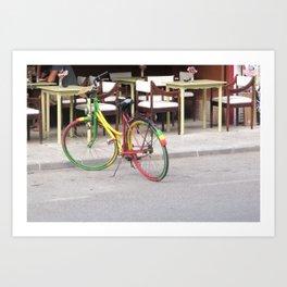 One Love Bicycle  Art Print