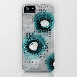 Charcoal Circles Right iPhone Case