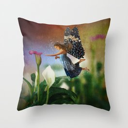 Floating Fairy Throw Pillow
