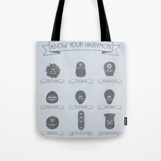 Know Your Hairymon Tote Bag