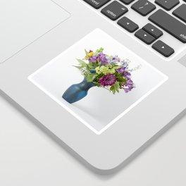 Floral Blue Vase Sticker