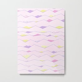 Pastel Waves #society6 #buyart Metal Print