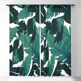 Banana Palm Leaves Jungle Pattern #2 #tropical #wall #decor #art #society6 Blackout Curtain