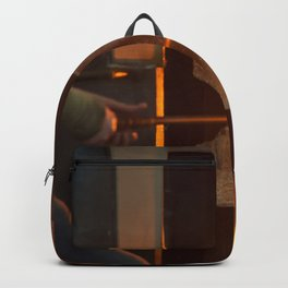 Glass blowing in the Glory Hole Backpack