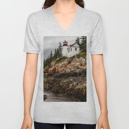 Bass Harbor Lighthouse - Acadia National Park Unisex V-Neck