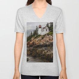 Bass Harbor Lighthouse - Acadia National Park Unisex V-Neck