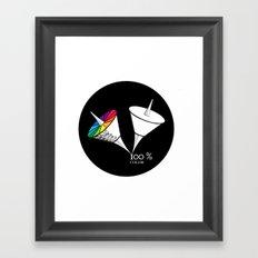100 % color Framed Art Print