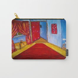 Down the Blue Passage with Flowers Carry-All Pouch