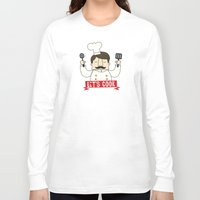 cook Long Sleeve T-shirts featuring Let's Cook! by Lalaine Lim