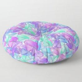 Placer precious stones . White background . Floor Pillow