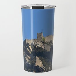 Magical Full Moon above the Castle of the Moors, Portugal Travel Mug