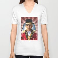 obama V-neck T-shirts featuring OBAMA by NOXBIL