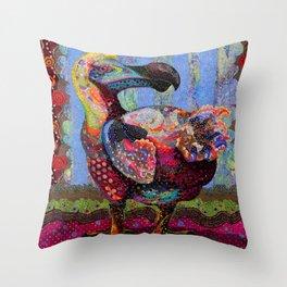 Polka Dodo Throw Pillow