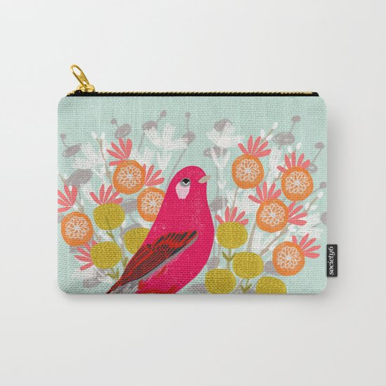 Bird on a Teacup by Andrea Lauren  Carry-All Pouch