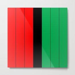 Kwanzaa Red Black Green Stripes Metal Print
