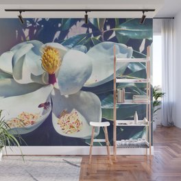 Magnolia Blossom and Bee Wall Mural
