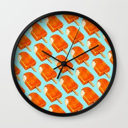 Popsicle Pattern - Creamsicle Wall Clock