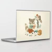 raccoon Laptop & iPad Skins featuring Raccoon Post by Teagan White