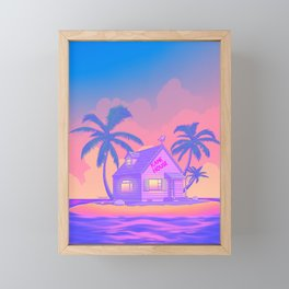80s Kame House Framed Mini Art Print