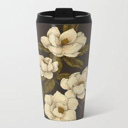 Magnolias Metal Travel Mug